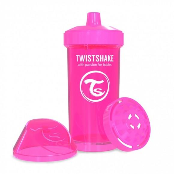 Twistshake Κύπελλο Μίξερ Φρούτων Kid Cup 360ml 12+μηνών Ροζ