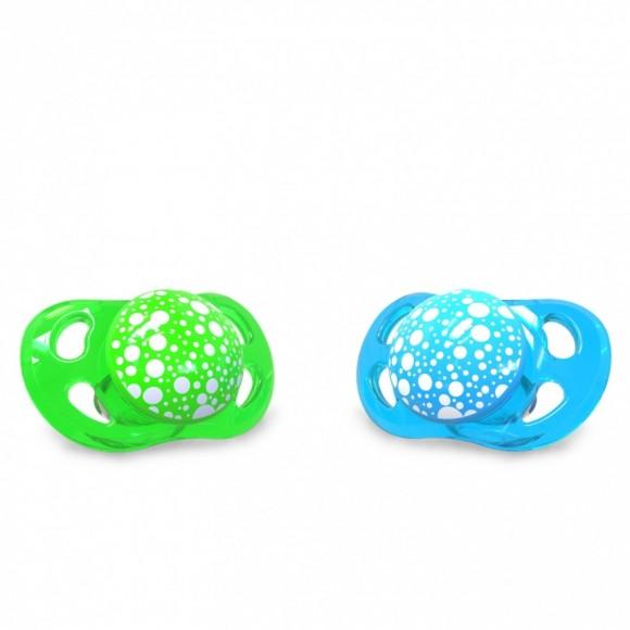 Twistshake Πιπίλα Σιλικόνης χωρίς BPA 0-6 μηνών Πράσινη Μπλε