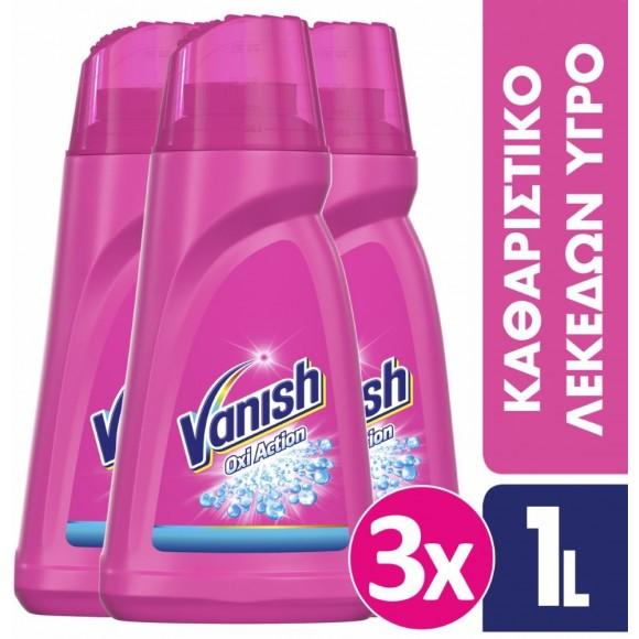 Vanish Ενισχυτικό Πλύσης σε Gel Oxi Action Pink 3x1lt