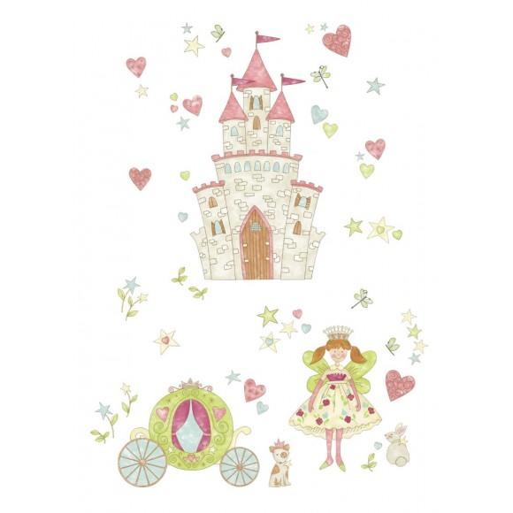 WallPops Αυτοκόλλητα Τοίχου Κάστρο Πριγκίπισσας με Κοσμήματα