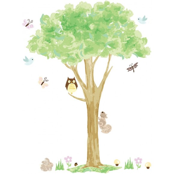 WallPops Αυτοκόλλητα Τοίχου Πράσινο Δέντρο