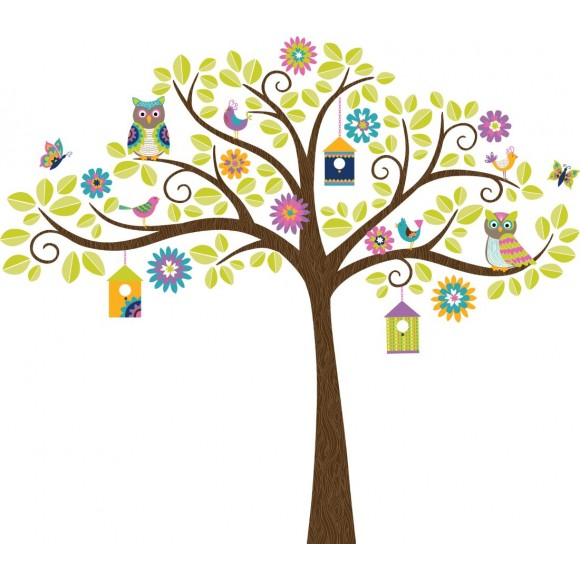 WallPops Αυτοκόλλητα Τοίχου Χαρούμενο Δέντρο