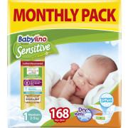 Πάνες Babylino Sensitive No1 (2-5Kg) Monthly Pack 168τμχ
