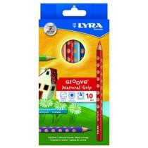 Lyra Ξυλομπογιές Groove 10τμχ