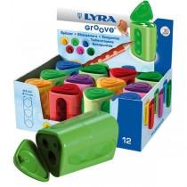 Lyra Ξύστρα Groove Διπλή 1τμχ σε Διάφορα Χρώματα