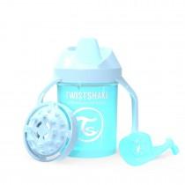 Twistshake Κύπελλο Mini Cup 230ml 4+μηνών Pastel Blue με Μίξερ Φρούτων