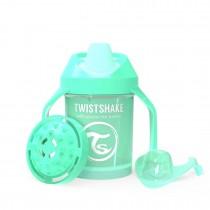 Twistshake Κύπελλο Mini Cup 230ml 4+μηνών Pastel Green με Μίξερ Φρούτων