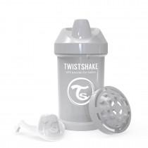 Twistshake Κύπελλο Crawler Cup 300ml 8+μηνών Pastel Grey με Μίξερ Φρούτων