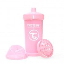 Twistshake Κύπελλο Kid Cup 360ml 12+μηνών Pastel Pink με Μίξερ Φρούτων