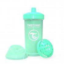 Twistshake Κύπελλο Kid Cup 360ml 12+μηνών Pastel Green με Μίξερ Φρούτων