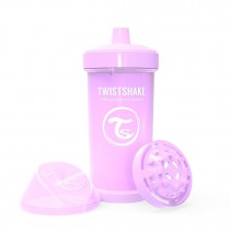 Twistshake Κύπελλο Kid Cup 360ml 12+μηνών Pastel Purple με Μίξερ Φρούτων