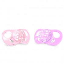 Twistshake Πιπίλα Σιλικόνης χωρίς BPA 6+μηνών 2τμχ Pastel Pink Purple