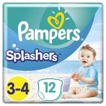 Πάνες-Μαγιό Pampers Splashers No 3-4, 12τμχ (6-11kg)