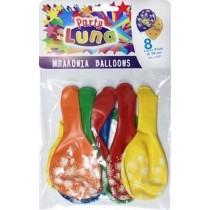 Μπαλόνια 30εκ με Σχέδιο Πυροτεχνήματα 8τμχ