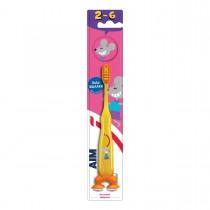 AIM Παιδική Οδοντόβουρτσα 2-6 Ετών Κίτρινη