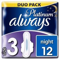 Always Σερβιέτα Platinum Ultra Night No3 Με Φτερά 12τμχ
