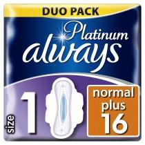 Always Σερβιέτα Platinum Ultra Normal Plus No1 Με Φτερά 16τμχ
