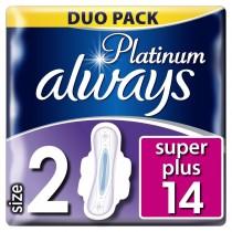 Always Σερβιέτα Platinum Ultra Super Plus No2 Με Φτερά 14τμχ