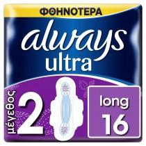 Always Σερβιέτα Ultra Long Plus Duo No2 με Φτερά 16τμχ