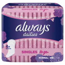Always Σερβιετάκια Dailies Singles To Go Normal 20τμχ