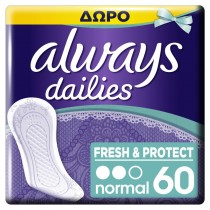 Always Σερβιετάκια Normal Fresh & Protect 40+20τμχ ΔΩΡΟ