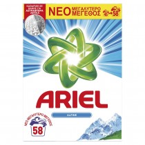Ariel Alpine Απορρυπαντικό Σκόνη 3.77 kg - 58 Πλύσεις
