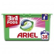 Ariel Απορρυπαντικό Κάψουλες Υπερσυμπυκνωμένες Pods 3in1 Fresh 38τμχ