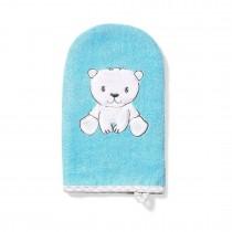 BabyOno Γάντι Καθαρισμού από Μπαμπού για το Μπάνιο Μπλε