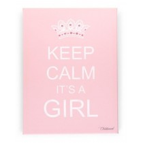 "Childwood Καμβάς ""Keep Calm it's a Girl"" 30x40 Ροζ"