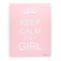 "Childwood Καμβάς ""Keep Calm it's a Girl"" 30x40 Ροζ"