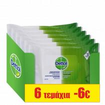Dettol Αντιβακτηριδιακά Μαντηλάκια Προσωπικής Υγιεινής 6x15τμχ