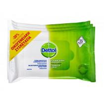 Dettol Αντιβακτηριδιακά Μαντηλάκια Προσωπικής Υγιεινής Familly Pack 3x15τμχ