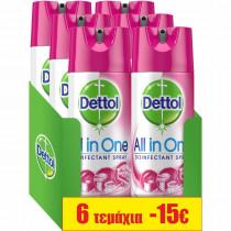 Dettol Απολυμαντικό Σπρέι Orchard Blossom 6x400ml