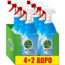 Dettol Πολυκαθαριστικό Spray Linen & Aqua Sky 6x500ml