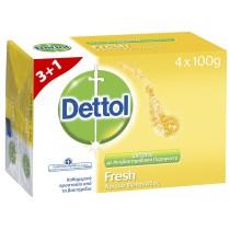 Dettol Σαπούνι Fresh 100gr 3+1 ΔΩΡΟ