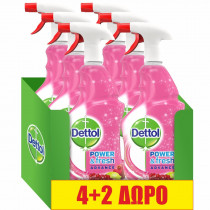 Dettol Spray Αντιβακτηριδιακό Ρόδι & Lime 6x500ml