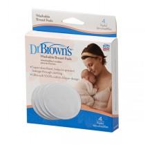 Dr. Brown's Επιθέματα Στήθους Πλενόμενα 4 τμχ