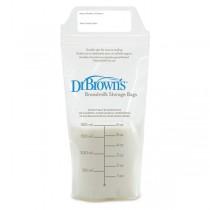 Dr. Brown's Σακουλάκια Φύλαξης Μητρικού Γάλακτος 25 τμχ