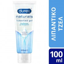 Durex Naturals Ενυδατικό Λιπαντικό Gel με 100% Φυσικά Συστατικά Και Υαλουρονικό Οξύ 100ml