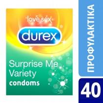Durex Προφυλακτικά Surprise Ποικιλία 40τμχ