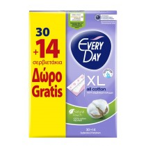 EveryDay Σερβιετάκια All Cotton Extra Long 30τεμ+14τεμ Δώρο