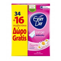 EveryDay Σερβιετάκια Extra Dry Large 34τεμ+16τεμ Δώρο