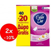 EveryDay Σερβιετάκια Extra Dry Normal 40τεμ+20τεμ Δώρο