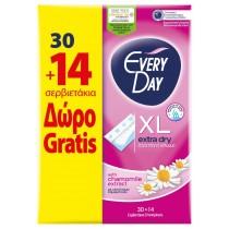 EveryDay Σερβιετάκια Extra Dry Extra Long 30+14τμχ Δώρο
