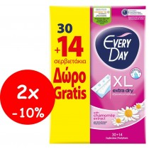 EveryDay Σερβιετάκια Extra Dry Extra Long 2x(30+14τμχ Δώρο)