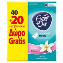 EveryDay Σερβιετάκια Fresh Normal 40+20μχ Δώρο