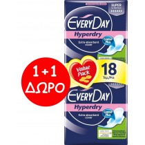 EveryDay Σερβιέτες Hyperdry Ultra Plus Super 18τεμ