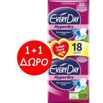 EveryDay Σερβιέτες Hyperdry Ultra Plus Maxi Night 18τεμ