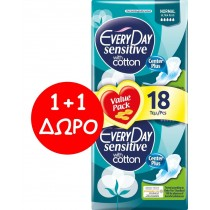 EveryDay Σερβιέτες Sensitive Cotton Ultra Plus Normal 18τεμ