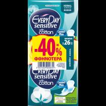 EveryDay Σερβιέτες Sensitive Ultra Plus Normal 26τεμ. -40%
